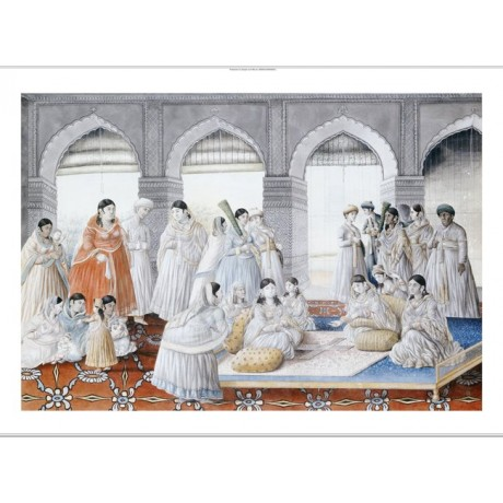 LUCKNOW SCHOOL Royal Harem Indian print NEW stunning! various SIZES, BRAND NEW