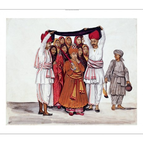 "KUTCH SCHOOL ""Wedding Feast"" Indian print ON CANVAS various SIZES available, NEW"