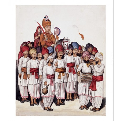 "KUTCH SCHOOL ""Wedding Procession"" Indian print CANVAS various SIZES, BRAND NEW"