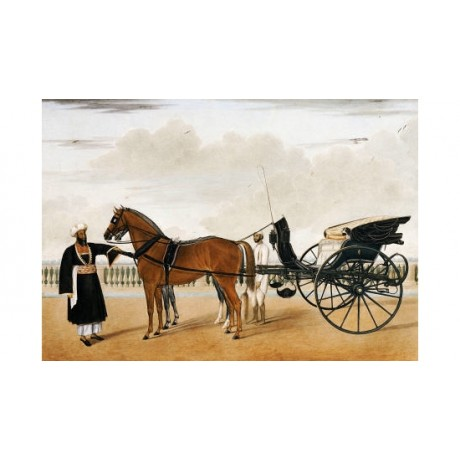 "SHAIKH MUHAMMAD AMIR ""Nawab & Horse Drawn Gharry"" PRINT various SIZES, BRAND NEW"
