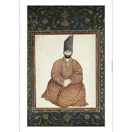 "ABU'L HASAN GHAFFARI ""A Seated Nobleman"" print NEW choose SIZE, from 55cm up"