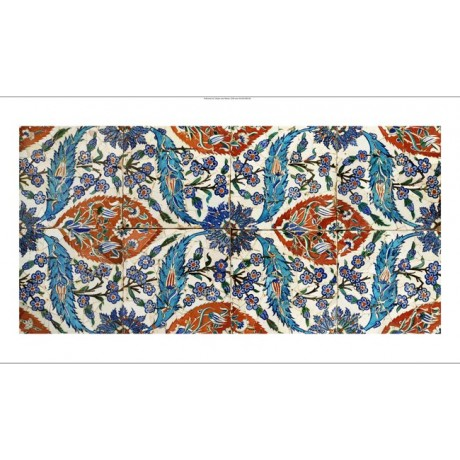 "DECORATIVE CANVAS PRINT ""Iznik Design I"" NEW choose SIZE, from 55cm upwards, NEW"