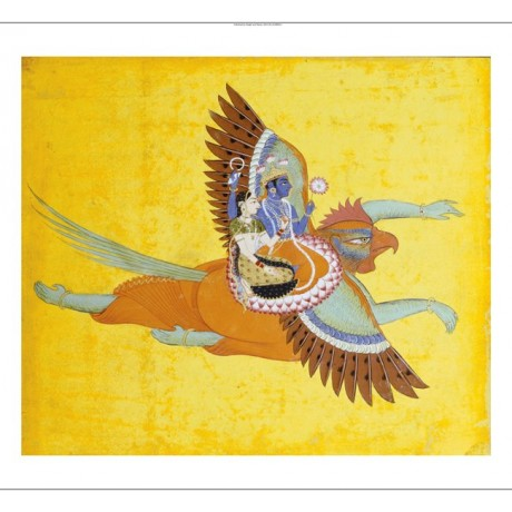 "DECORATIVE CANVAS PRINT ""Vishnu And Lakshmi "" NEW choose SIZE, from 55cm up, NEW"