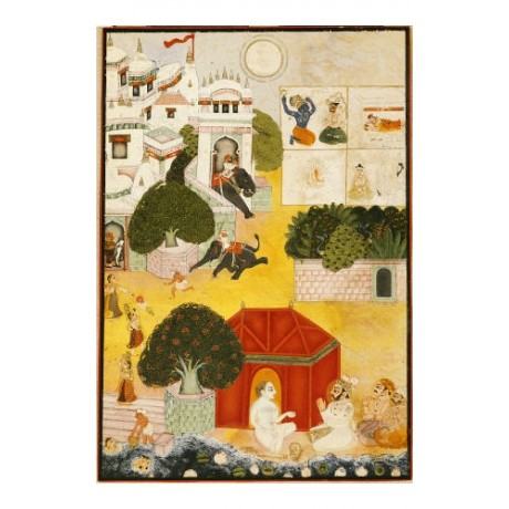 "DECORATIVE PRINT ""A Ruler Visiting An Ascetic Kotah"" various SIZES available"