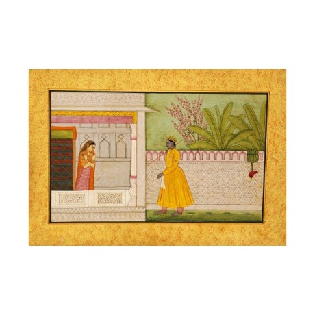 "DECORATIVE CANVAS PRINT ""Rasikapriya Of Keshav Das"" various SIZES available, NEW"