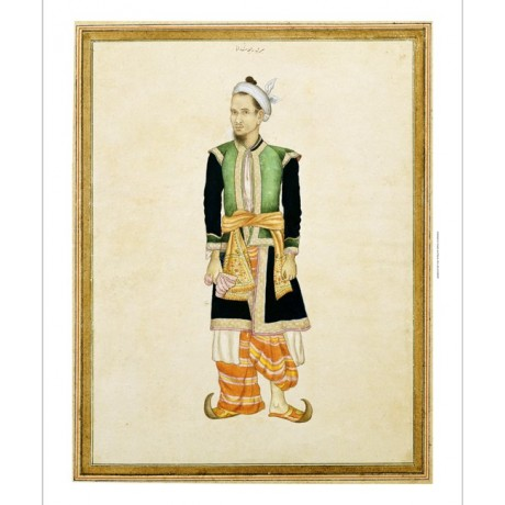 "SRI RAJA SADAN ""Portrait Of Burmese Attendant"" print various SIZES available"