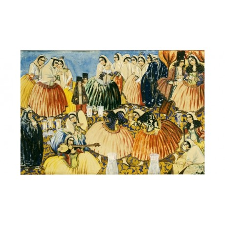 "ABU' L-HASAN ""Marriage Of Aqa Abdullah Khan"" PRINT choose SIZE, from 55cm up"