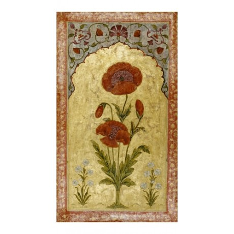 "DECORATIVE CANVAS PRINT ""Poppy Blossoms Possibly Oudh"" various SIZES, BRAND NEW"