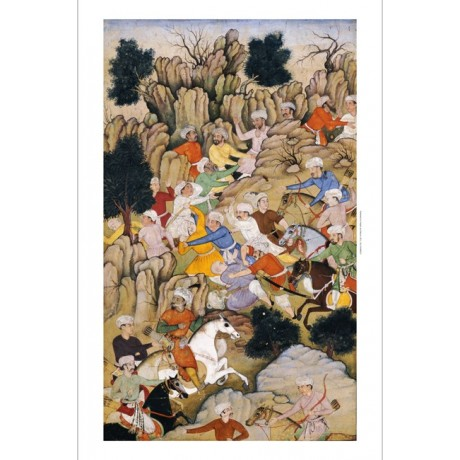"DECORATIVE CANVAS PRINT ""Babur Chasing The Hazaras"" various SIZES available, NEW"