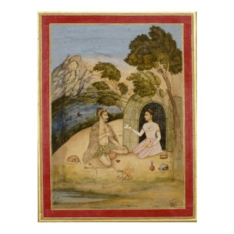 "ALI QULI ""A Lady Entertaining A Bhil"" indian CANVAS various SIZES available, NEW"