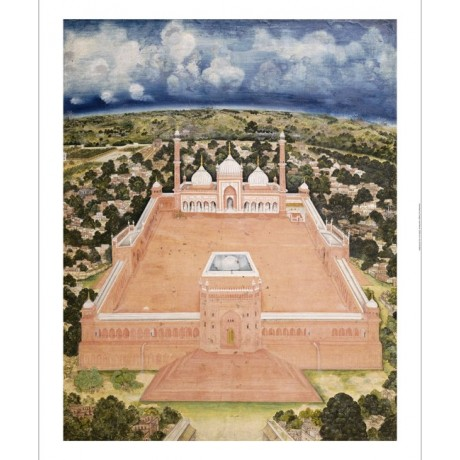 "COMPANY SCHOOL ""Great Mosque, Delhi"" Indian PRINT choose SIZE, from 55cm up, NEW"