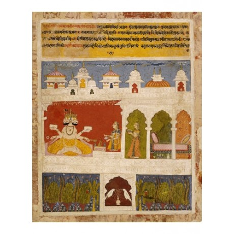 KHAMBAVATI RAGINI Sacrifice To Brahma Indian PRINT choose SIZE, from 55cm up