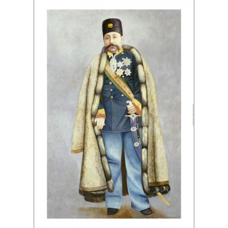 "ANONYMOUS ""Portrait Of Muzaffar Al-Din Shah Qajar"" NEW various SIZES, BRAND NEW"