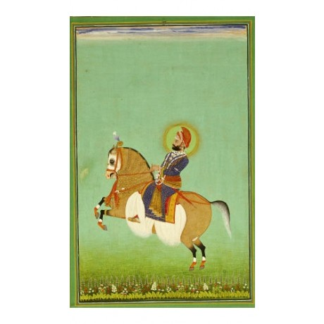 "SHIVA ""Portrait Maharana Sarup Singh"" horse PRINT choose SIZE, from 55cm up, NEW"