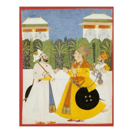 ANONYMOUS Two Maharajas Palace PRINT new choose your SIZE, from 55cm to X LARGE