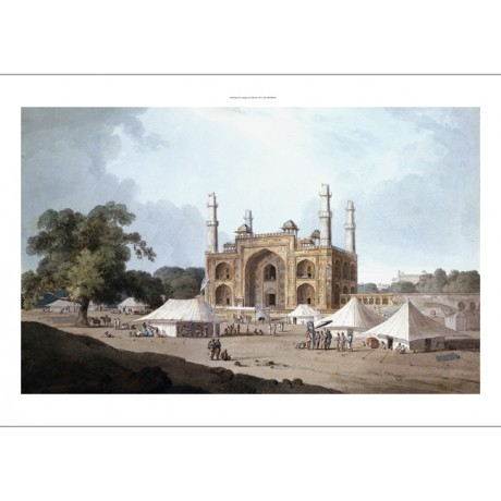 "HANDSOME CANVAS PRINT ""Gateway to Akbar's Mausoleum, Sikandra"" THOMAS DANIELL"