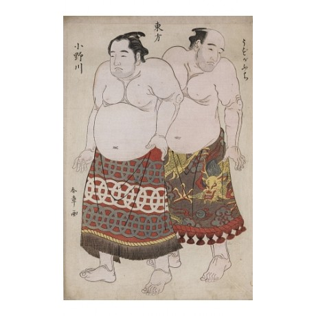 "KATSUKAWA SHUNCHO ""Wrestlers From Eastern Group"" CANVAS various SIZES, BRAND NEW"