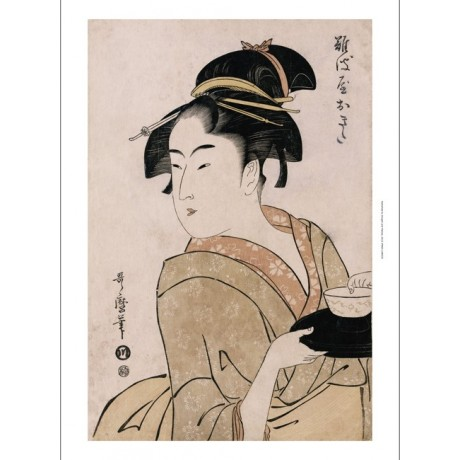 "KITAGAWA UTAMARO ""Okita Of The Naniwaya Teahouse"" PRINT various SIZES, BRAND NEW"