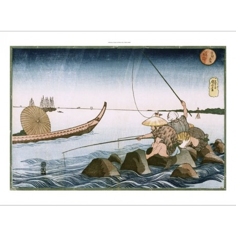 UTAGAWA KUNIYOSHI 'Three Anglers Fishing At Teppozu' various SIZES available