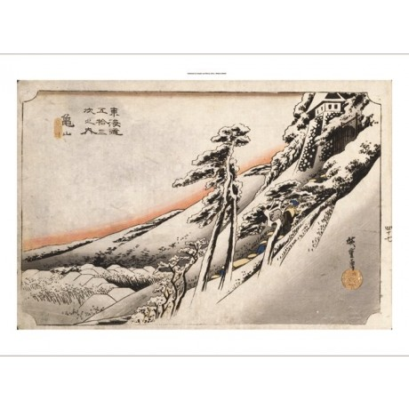 """ANDO HIROSHIGE """"Clear Weather After Snow, Kameyama"""" NEW various SIZES, BRAND NEW"""