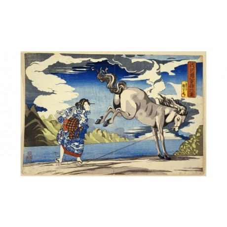 "KUNIYOSHI ""Strong Woman, Okane"" Print NEW choose your SIZE, from 55cm to X LARGE"