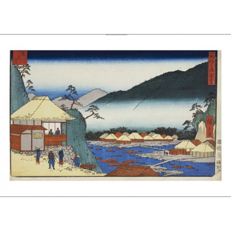 ANDO HIROSHIGE Hot Springs Japan PRINT new choose SIZE, from 55cm upwards, NEW