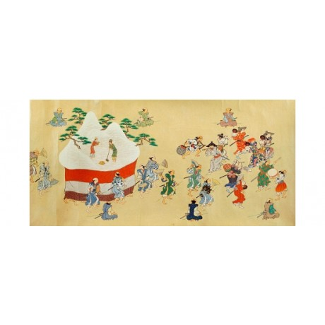 "CURIOUS CANVAS PRINT ""Festival Of Waka Province Kii"" INTRIGUING group JAPANESE"