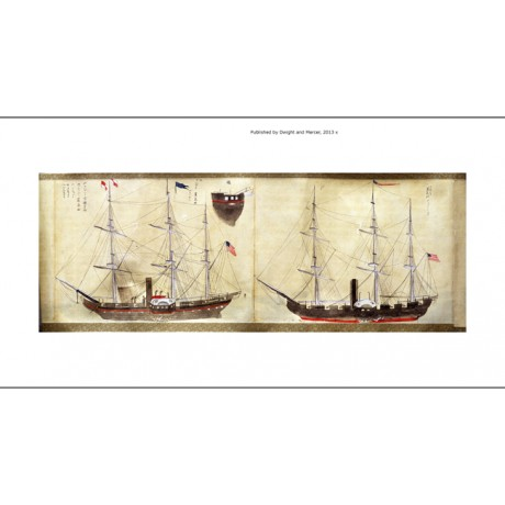 CANVAS PRINT expedition VESSELS of Commodore Calbraith Perry to Japan JAPANESE