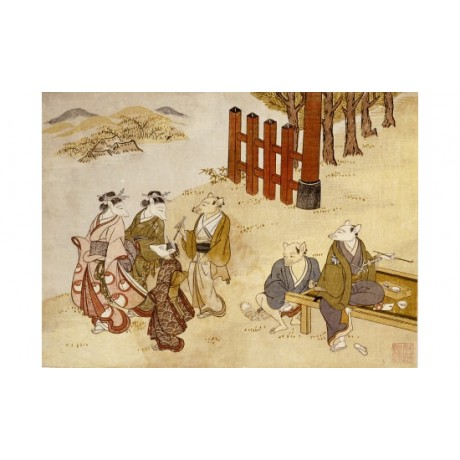 "TACHIBANA MINKO ""First Meeting"" Art Print NEW choose your SIZE, 55cm to X LARGE"