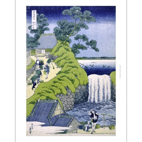 KATSUSHIKA HOKUSAI Aoigaoka Waterfall Japan PRINT choose SIZE, from 55cm up, NEW