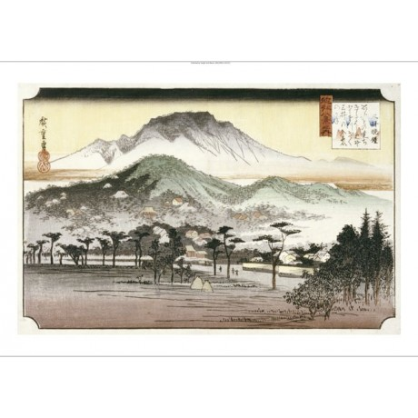 "ANDO HIROSHIGE ""Evening Bell At Mii Temple"" CANVAS ART various SIZES, BRAND NEW"