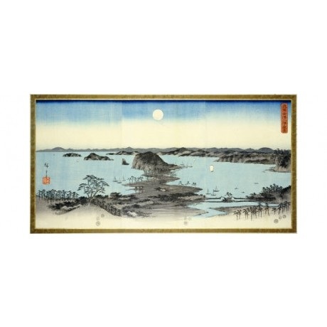 ANDO HIROSHIGE Night View Of Kanazawa Japan PRINT choose SIZE, from 55cm up, NEW