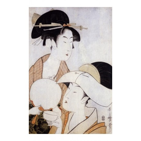 "KITAGAWA UTAMARO ""Bust Portrait Of Two Women"" PRINT various SIZES available, NEW"