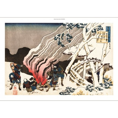 "HOKUSAI ""Winter Loneliness"" japanese scene ON CANVAS various SIZES available"