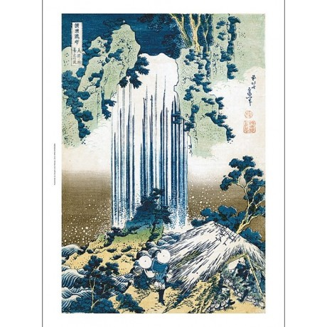 "HOKUSAI ""The Yoro Waterfall in Mino Province"" CANVAS various SIZES available"
