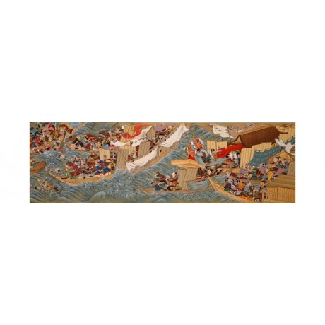"FANTASTIC CANVAS PRINT ""Conquest of Korea By Empress Jingu"" sea battle HIROYUKI"