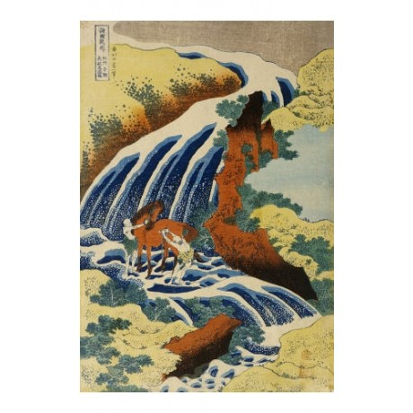 KATSUSHIKA HOKUSAI Two Men Washing A Horse ON CANVAS various SIZES available