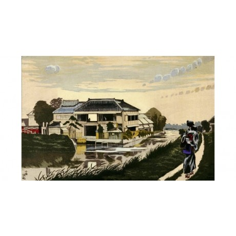"KOBAYASHI KIYOCHIKA ""Sunset At Yanagishima"" ON CANVAS various SIZES, BRAND NEW"