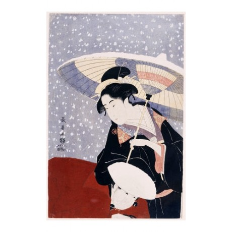 EISHOSAI CHOKI Manservant & Beauty Japan PRINT choose SIZE, from 55cm up, NEW