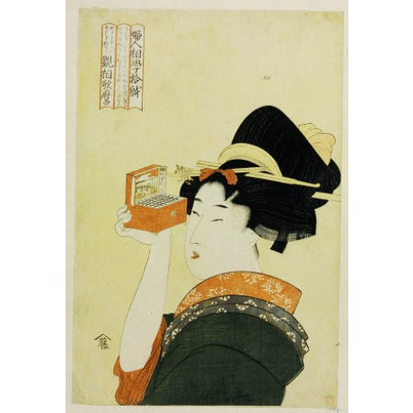 KITAGAWA UTAMARO Girl And Magic Lantern, Japan PRINT various SIZES available