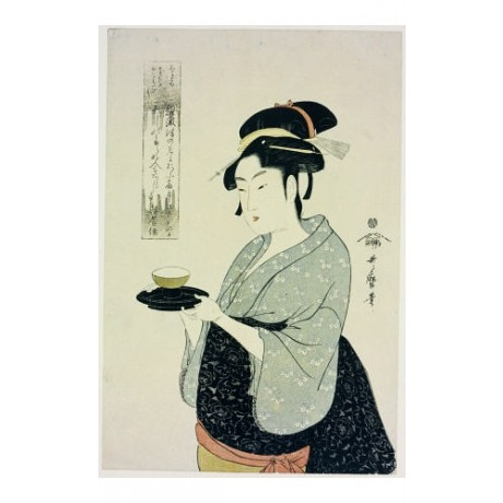 "KITAGAWA UTAMARO ""Portrait Of Naniwaya Okita"" ON CANVAS various SIZES, BRAND NEW"
