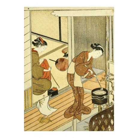 "SUZUKI HARUNOBU ""Returning Sails Of Towel Rack"" PRINT various SIZES available"