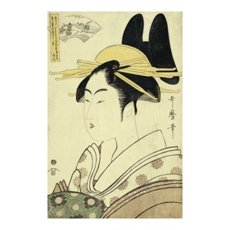 KITAGAWA UTAMAR Portrait Courtesan Japan PRINT choose SIZE, from 55cm up, NEW