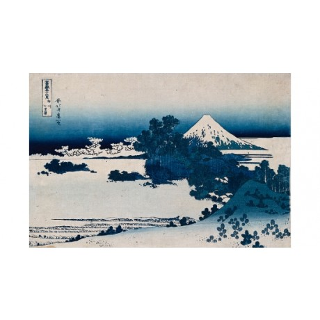 "HOKUSAI ""Shichirigahama"" mount FUJI blue landscape mountain snow CANVAS PRINT"