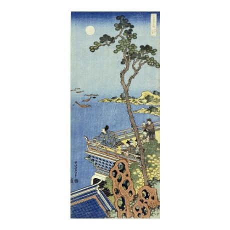KATSUSHIKA HOKUSAI Courtier On Balcony Japan PRINT choose your SIZE, 55cm up