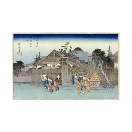 "ANDO HIROSHIGE ""Willow At Exit Of Shimabara"" Japan ART various SIZES, BRAND NEW"