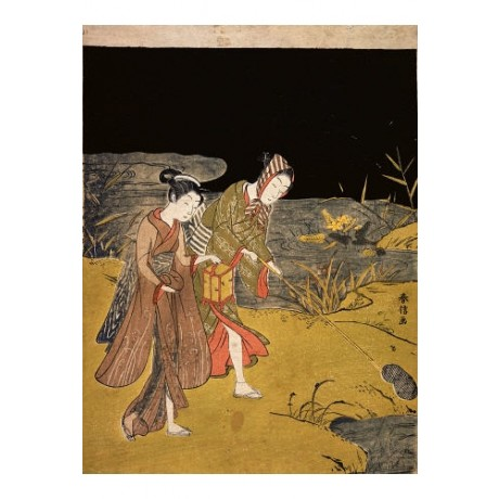 SUZUKI HARUNOBU Catching Fireflies Japan Art Print NEW various SIZES available