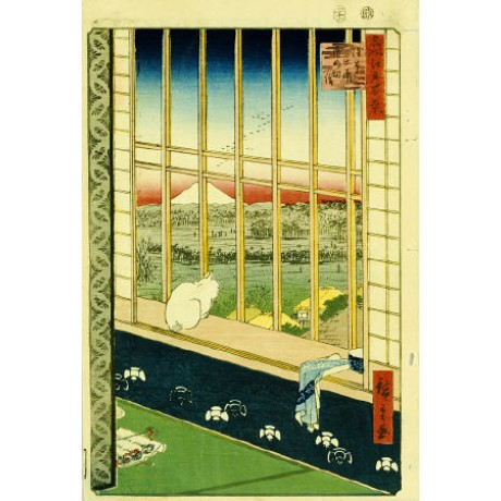 ANDO HIROSHIGE Rice Fields Japan Art Print choose your SIZE, 55cm to X LARGE