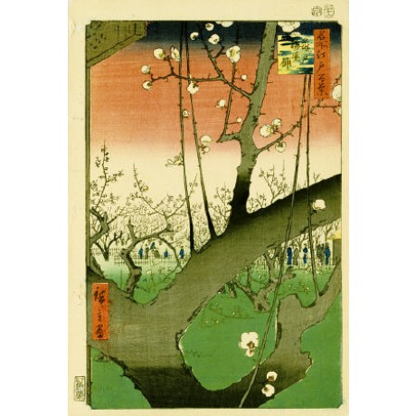 "ANDO HIROSHIGE ""Plum Garden, Kameido"" Japan Art Print various SIZES available"
