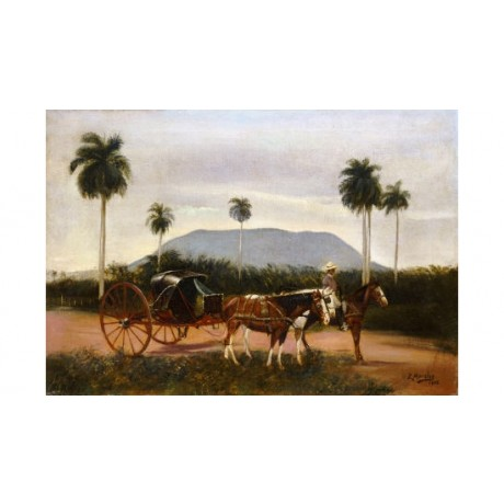 "EDUARDO MORALES ""Volanta"" Landscape Horse Art Print various SIZES available"